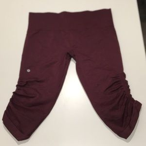 Lululemon cropped running pants size 12